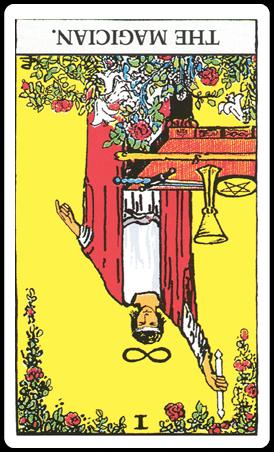【タロットカード解説】1 魔術師 / The Magician 逆位置