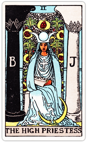 【タロットカード解説】2 女教皇 / The High Priestess 正位置