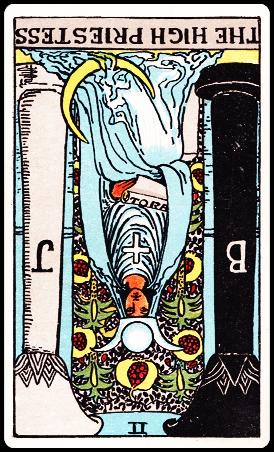 【タロットカード解説】2 女教皇 / The High Priestess 逆位置