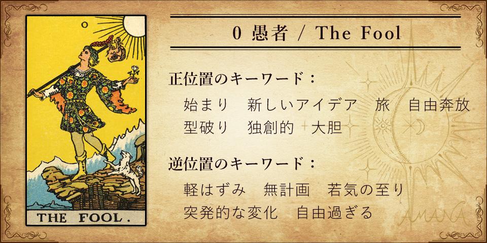 【タロットカード解説】0 愚者 / The Fool