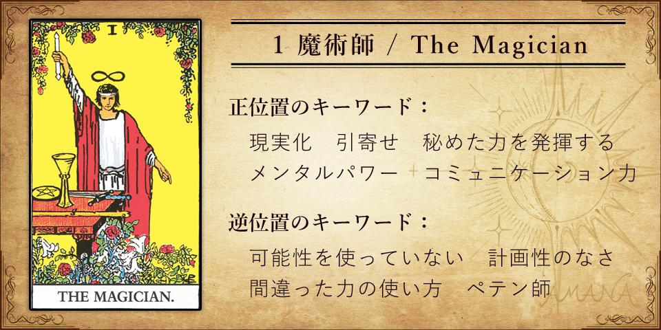 【タロットカード解説】1 魔術師 / The Magician
